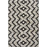 Hand-Crafted Juan Chevron Hair On Hide Area Rug - 8' x 10'