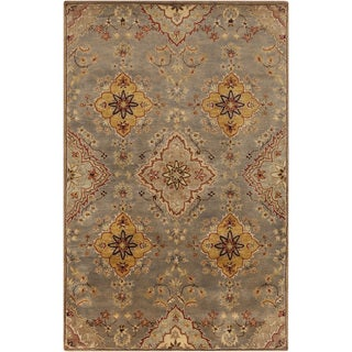 Hand-Tufted Barry Floral Wool Area Rug - 8' x 11'