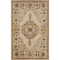 Hand-Tufted Clyde Medallion Wool Area Rug (9' x 13')