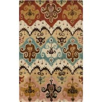 Hand-Tufted Billy Floral Wool Area Rug (9' x 13')