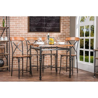 Broxburn Wood and Metal 5-piece Pub Set