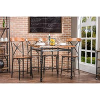 Industrial Medium Brown Wood Pub Set by Baxton Studio