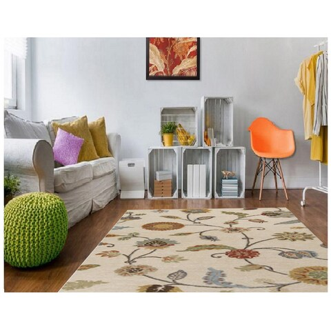 Copper Grove Effie Hand-tufted Floral Indoor Area Rug