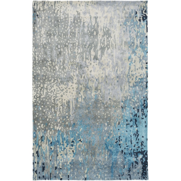 Hand-Tufted Savanna Abstract Indoor Rug (5' x 8')
