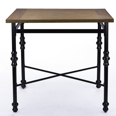 Industrial Medium Brown Wood Pub Table by Baxton Studio
