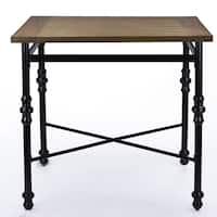 Industrial Medium Brown Wood Pub Table by Baxton Studio