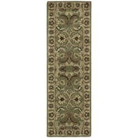 Rug Squared Worcester Green Rug - 2'3 x 7'6