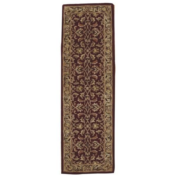 Rug Squared Worcester Burgundy Rug (2'3 x 7'6)