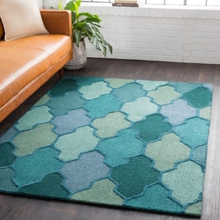 Hand-Tufted Ryde Moroccan Trellis Wool Rug (6' x 9')