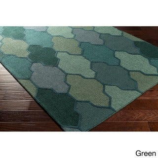 Hand-Tufted Ryde Moroccan Trellis Wool Rug (7'6 x 9'6)