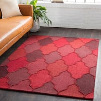 Hand-Tufted Ryde Moroccan Trellis Wool Rug - 2' x 3'