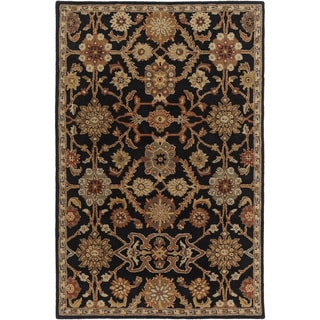 Hand-Tufted Acton Floral Wool Rug - 4 x 6 (4 x 6 - Black)