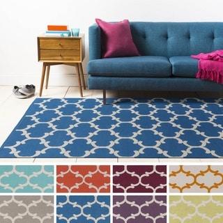 Flatweave Colne Moroccan Trellis Cotton Rug (5' x 7'6)