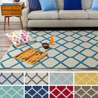 Flatweave Ware Crosshatched Cotton Rug - 9' x 12'