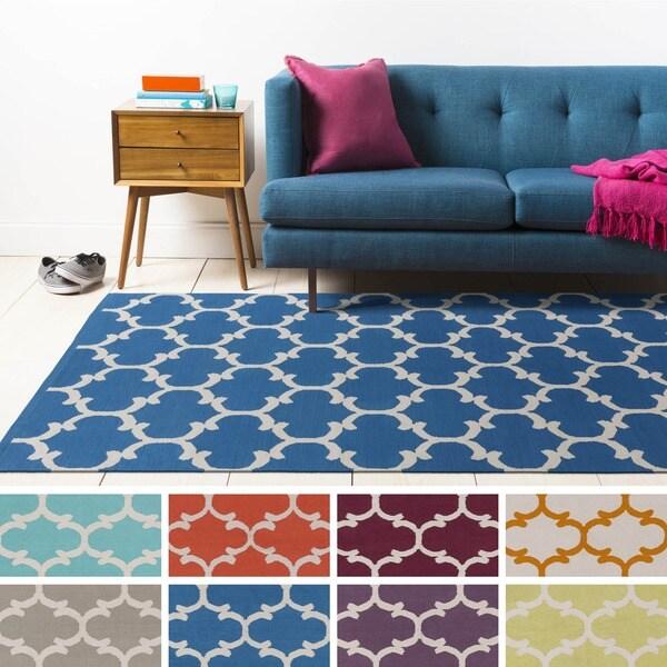 Flatweave Colne Moroccan Trellis Cotton Rug (9' x 12')