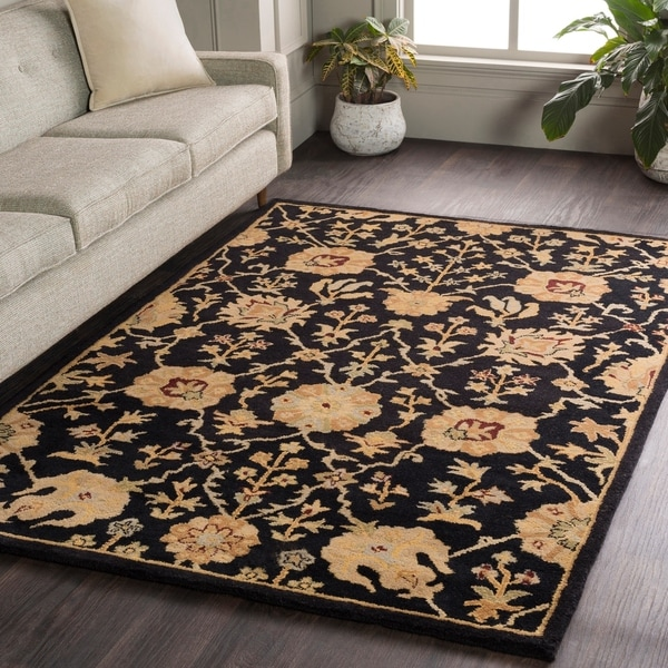Hand-Tufted Amble Floral Wool Rug (5' x 8')
