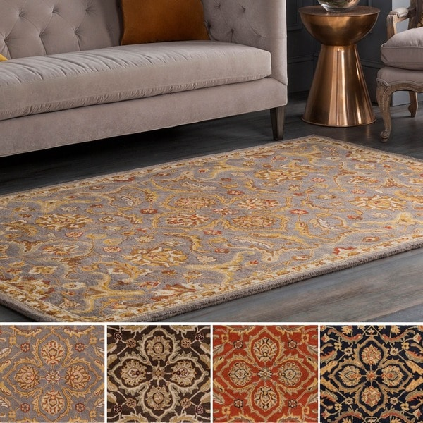 Hand-Tufted Blyth Floral Wool Rug - 6' x 9'
