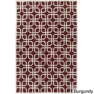 Hand-Tufted Brigg Crosshatched Wool Rug (9' x 13')