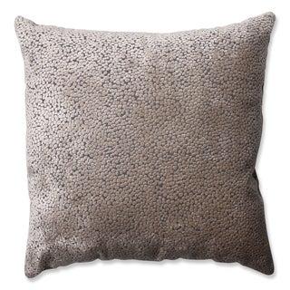 Strick & Bolton Morton Flax Cut Velvet Throw Pillow