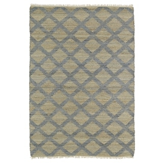 "Handmade Natural Fiber Canyon Slate Lattice Rug - 3'6"" x 5'6"""