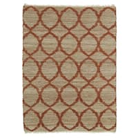 Handmade Natural Fiber Canyon Rust Lattice Rug - 8' x 11'
