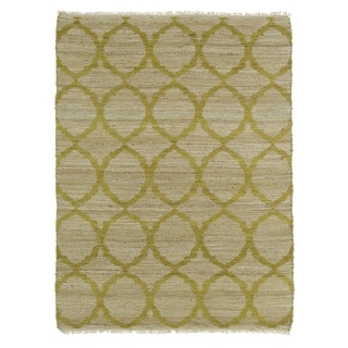 Handmade Natural Fiber Canyon Wasabi Lattice Rug (8'0 x 11'0)