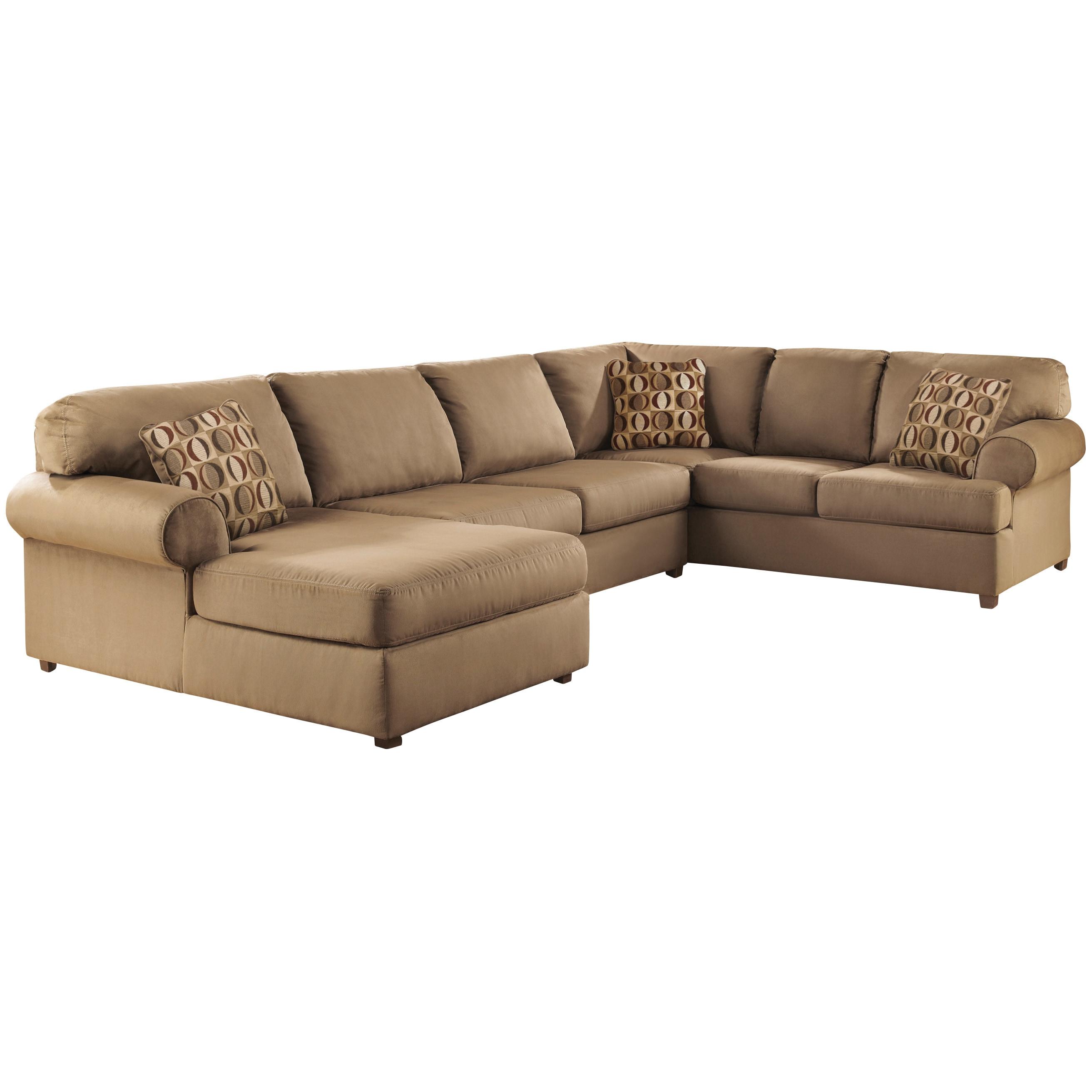 Fantastic Art Van Cowen Mocha 3 Piece Sectional Inzonedesignstudio Interior Chair Design Inzonedesignstudiocom