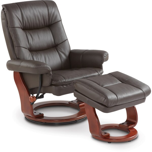 Art Van Leather Chair And Ottoman Free Shipping Today