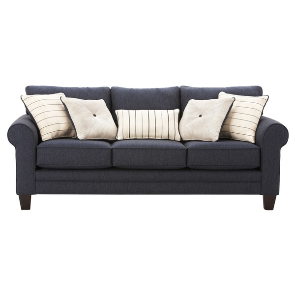 Art Van Navy Blue Calypso Queen Sleeper Sofa