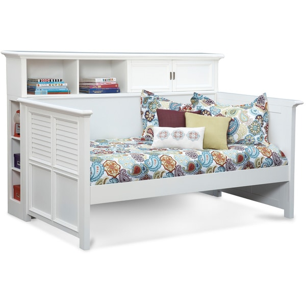 Shop Art Van White Daybed With Bookcase Free Shipping