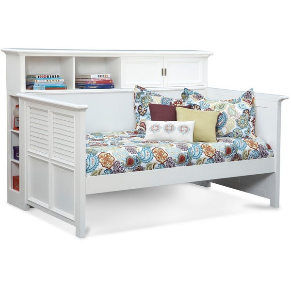 White Daybed With Bookcase: Shop Art Van White Daybed With Bookcase