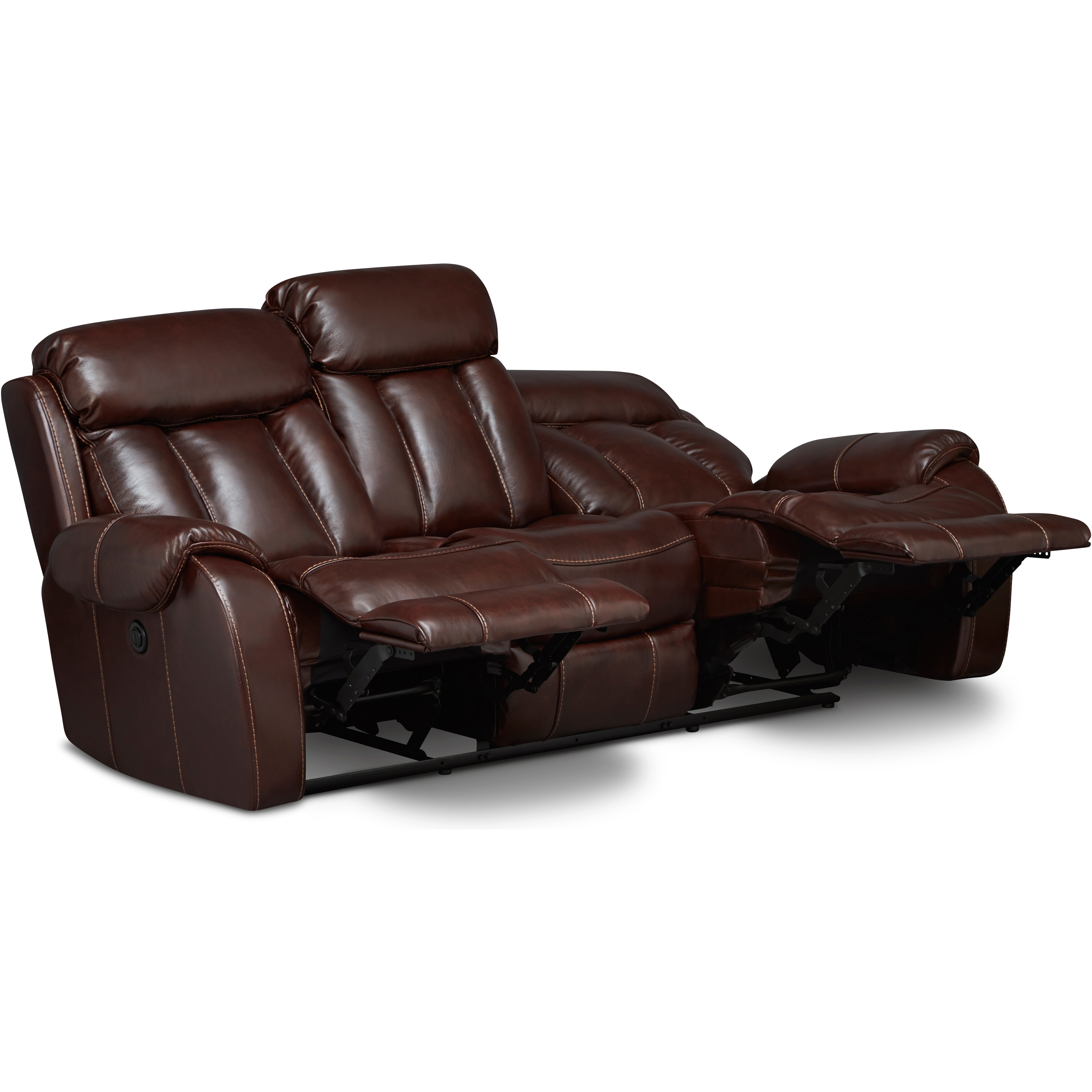Super Art Van Bronson Burgundy Leather Power Reclining Sofa Uwap Interior Chair Design Uwaporg