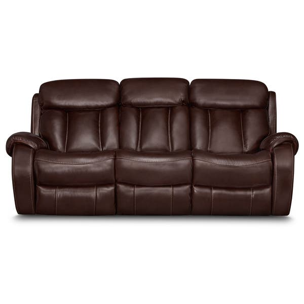 Tremendous Shop Art Van Bronson Burgundy Leather Power Reclining Sofa Uwap Interior Chair Design Uwaporg