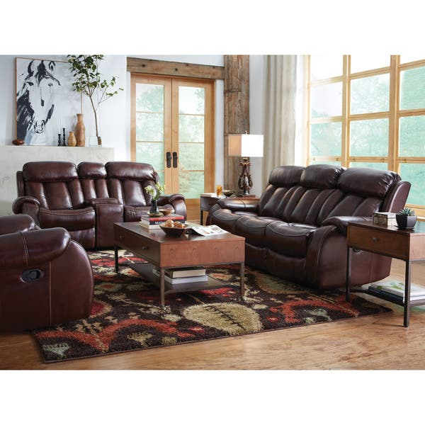 Pleasant Shop Art Van Bronson Burgundy Leather Power Reclining Sofa Uwap Interior Chair Design Uwaporg
