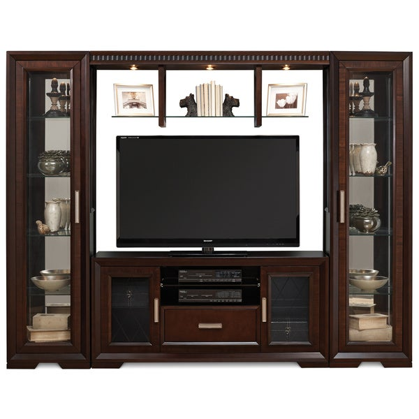 Shop Art Van Wall Unit With 60 Inch Console Free Shipping Today