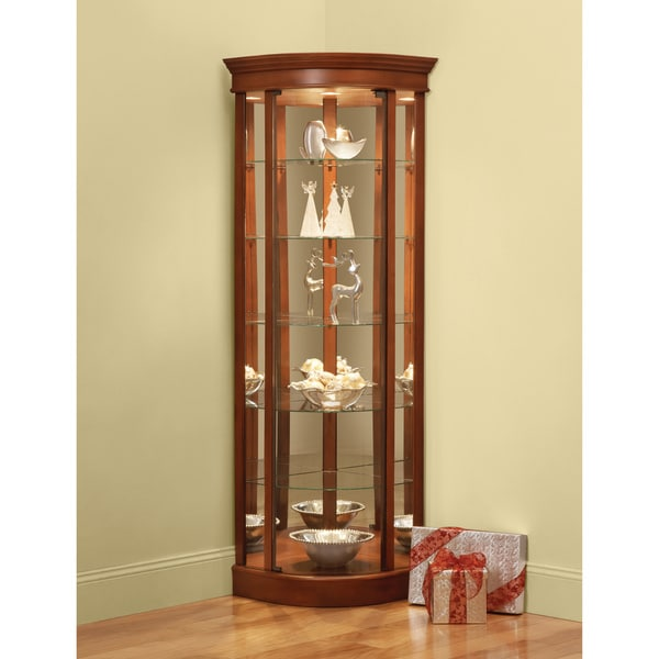 Shop Art Van Curved Front Corner Curio Free Shipping