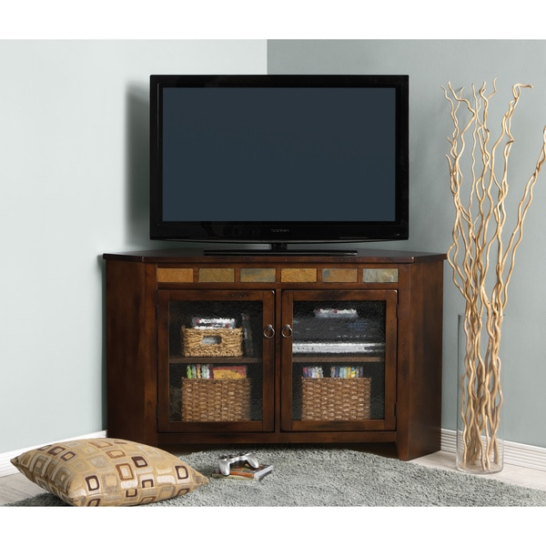 Shop Art Van Sante Fe Corner Tv Console Free Shipping Today