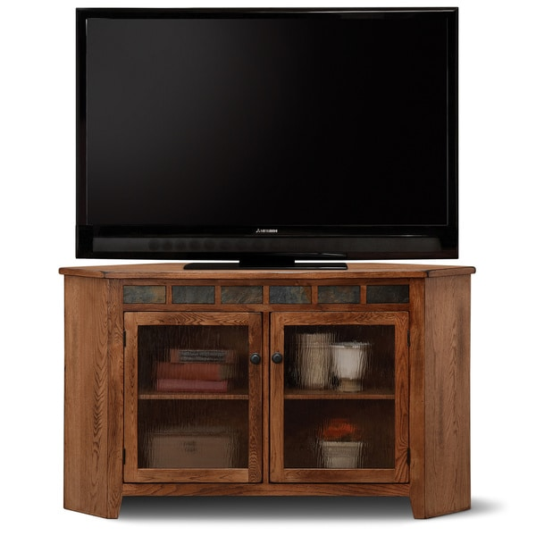 Shop Art Van Rustic Corner Tv Console Free Shipping Today