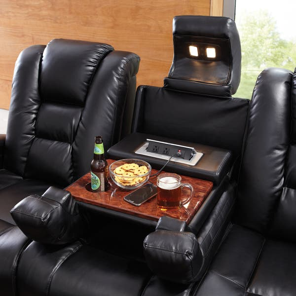 Stupendous Shop Art Van Matrix Black Power Reclining Sofa Free Uwap Interior Chair Design Uwaporg