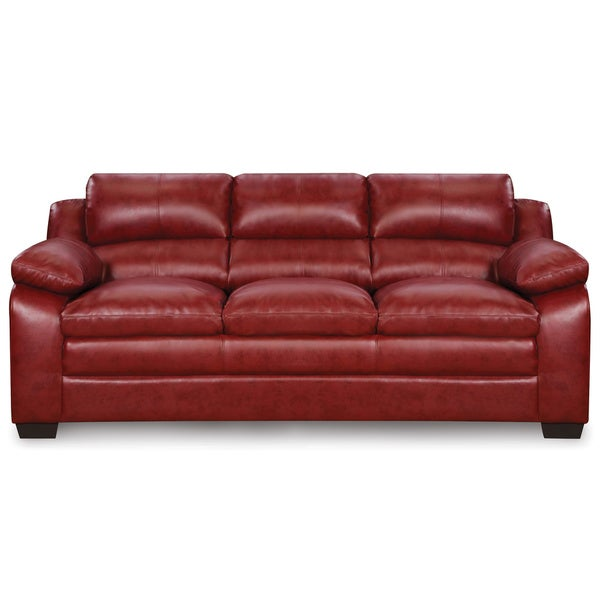 Art van maddox red sofa free shipping today overstock for Red sectional sofa art van