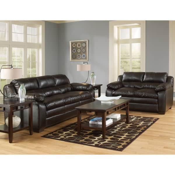 Art Van Maddox Espresso Sofa And