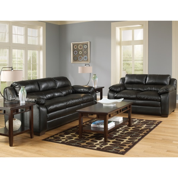 Art Van Maddox Onyx Sofa And Loveseat Set