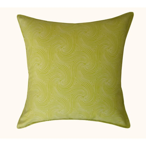 Jiti Green Swirl Patterned Sunbrella Outdoor Throw Pillow - 20 x 20 - 20 x 20