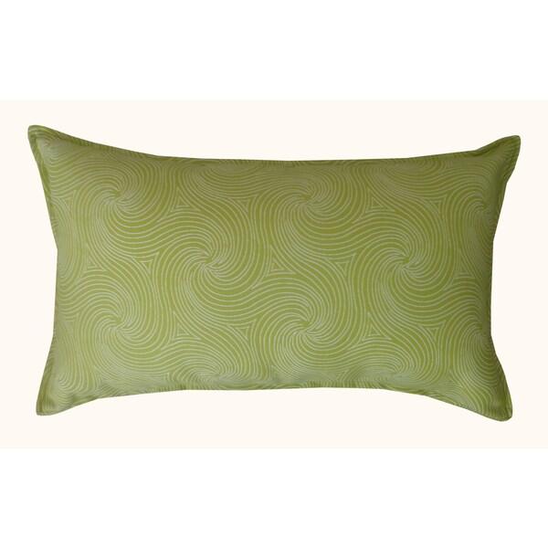 Jiti Green Swirl Patterned Sunbrella Outdoor Throw Pillow - 12 x 20 - 12 x 20. Opens flyout.