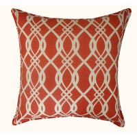 Jiti Outdoor Trellis Red 20-inch Pillow