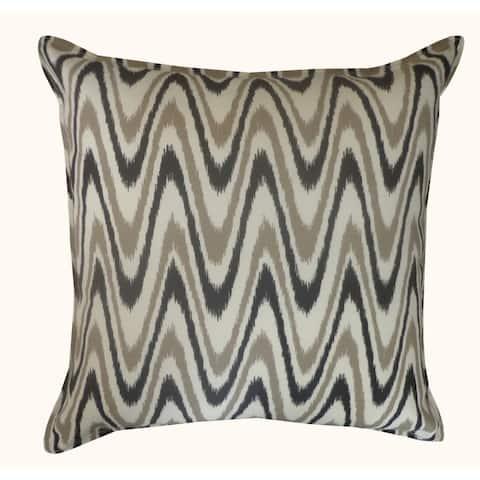 Jiti Grey/Tan Electricity ZigZag Geometric Outdoor Pillow - 20 x 20 - 20 x 20