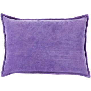 Hartford Cotton Rectangular Down or Polyester Filled Throw Pillow