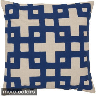 Jones 18-inch Decorative Geometric Feather Down or Polyester Filled Throw Pillow