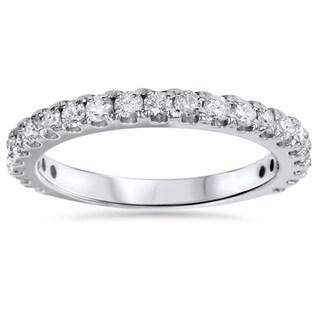 14k White Gold 1ct TDW Diamond Wedding Ring