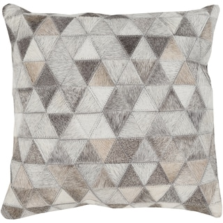 Allman 18-inch Geometric Patchwork Down or Polyester Filled Throw Pillow